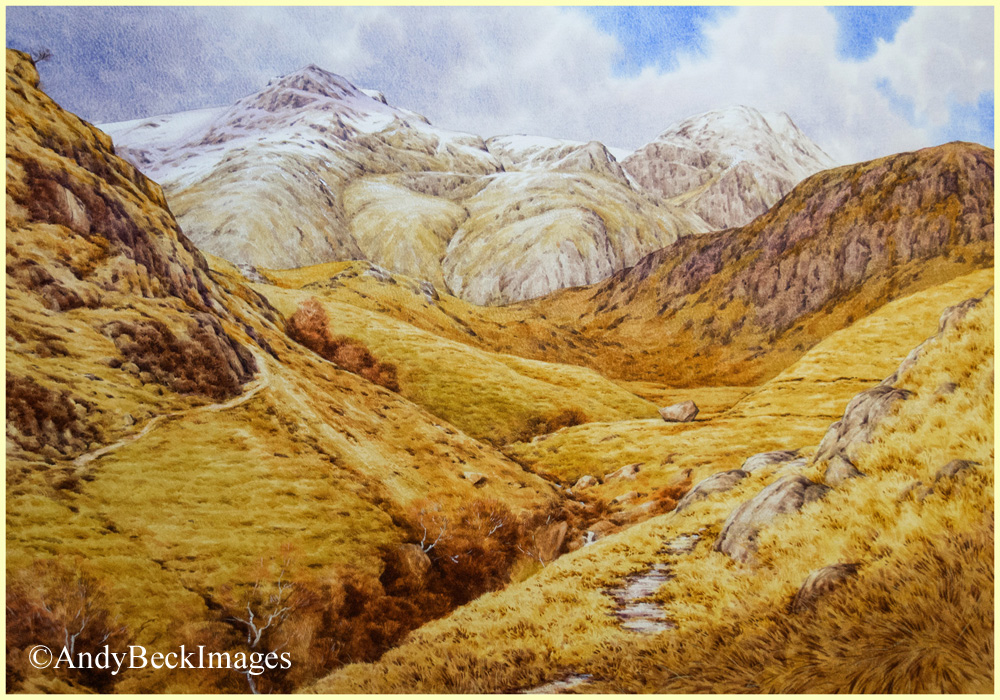 Scafell Pike painting