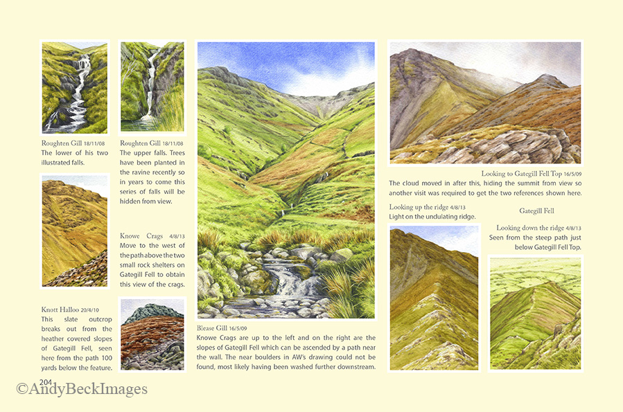 Wainwrights in Colour Blencathra page
