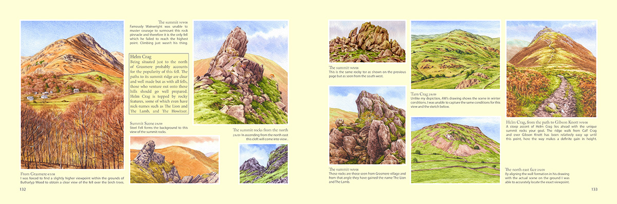 Helm Crag, Wainwrights in Colour