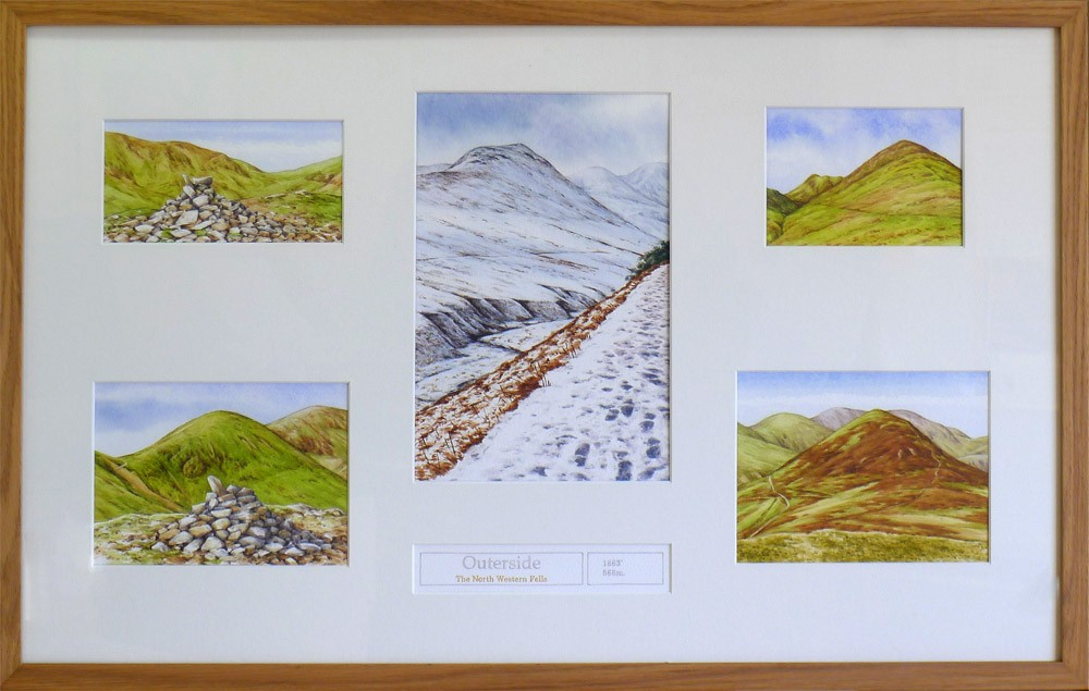 Outerside, Wainwrights in Colour framed