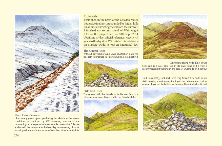 Outerside Wainwrights in Colour book