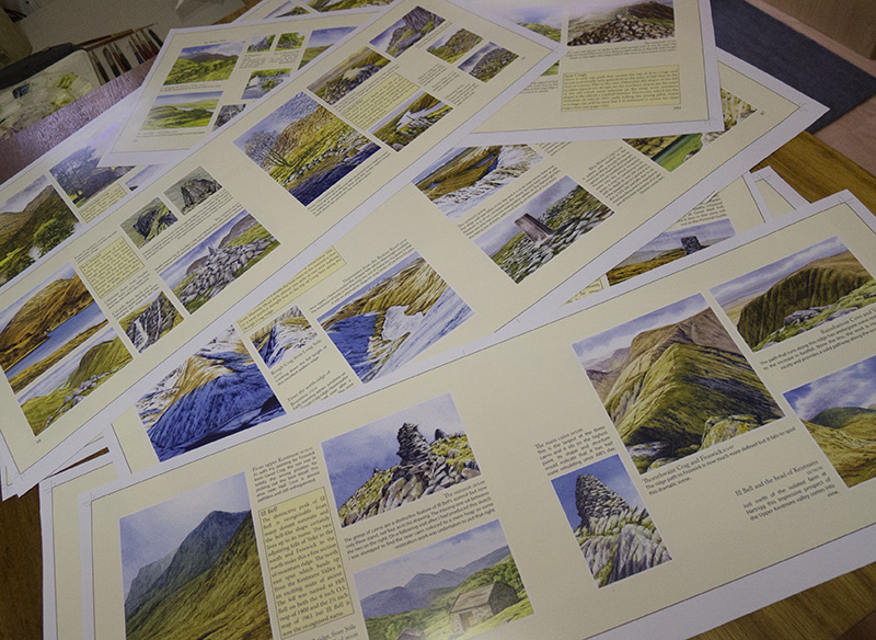 Wainwrights in Colour book proofs