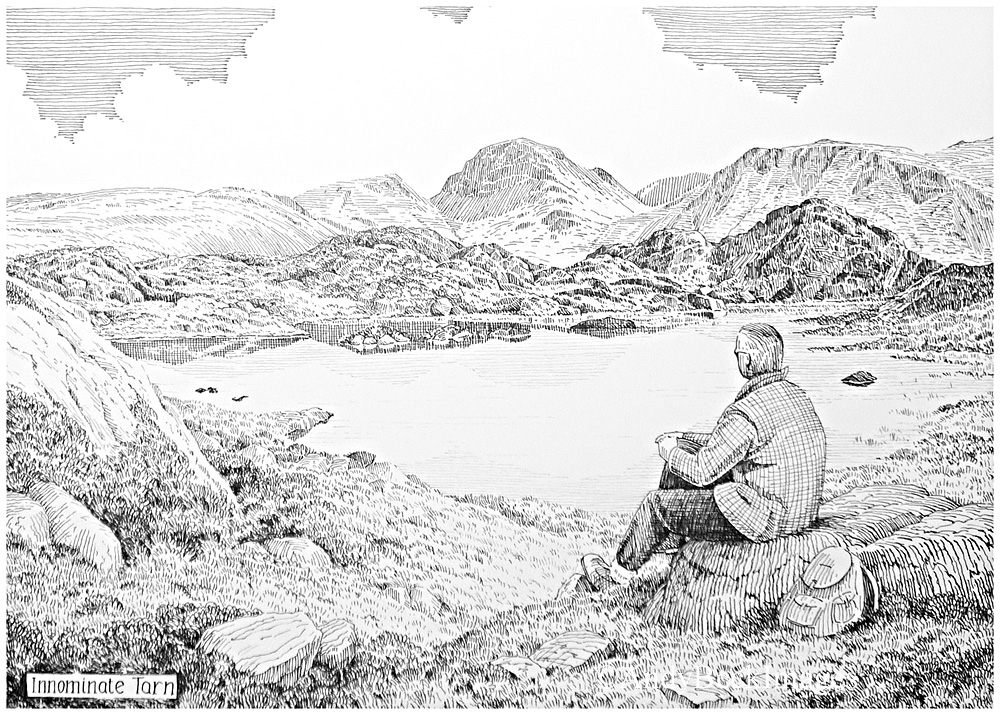 Innominate Tarn black and white drawing