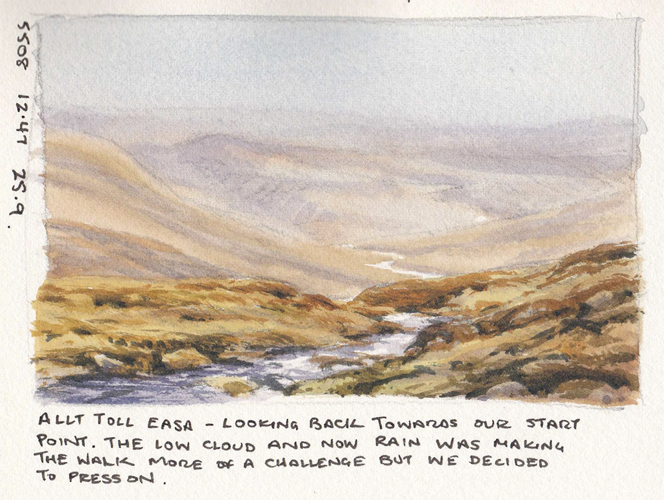 Glen Affric sketchbook page 5
