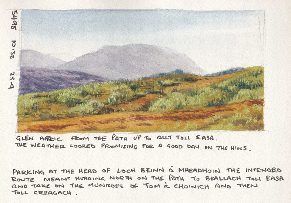 Glen Affric sketchbook page 4
