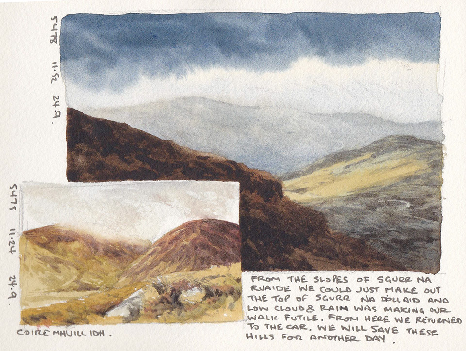 Glen Affric sketchbook page 3
