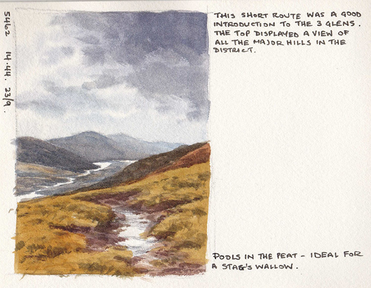 Glen Affric sketchbook page 2