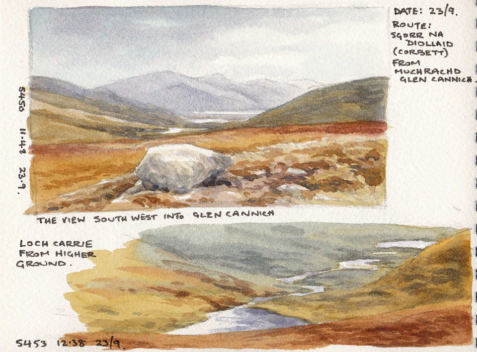 Glen Affric sketchbook page 1