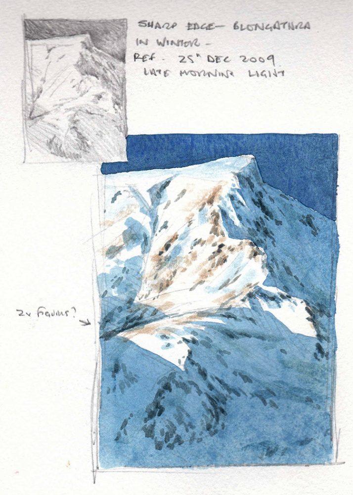 Blencathra sketchbook page