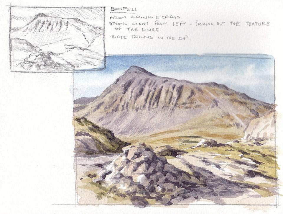Bowfell sketchbook page