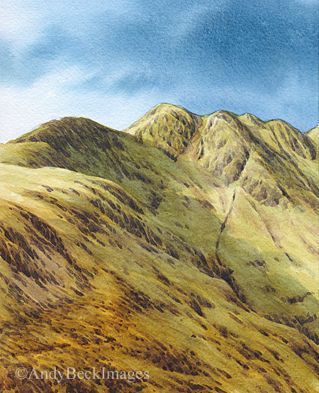 Crinkle Crags from Pike o' Blisco
