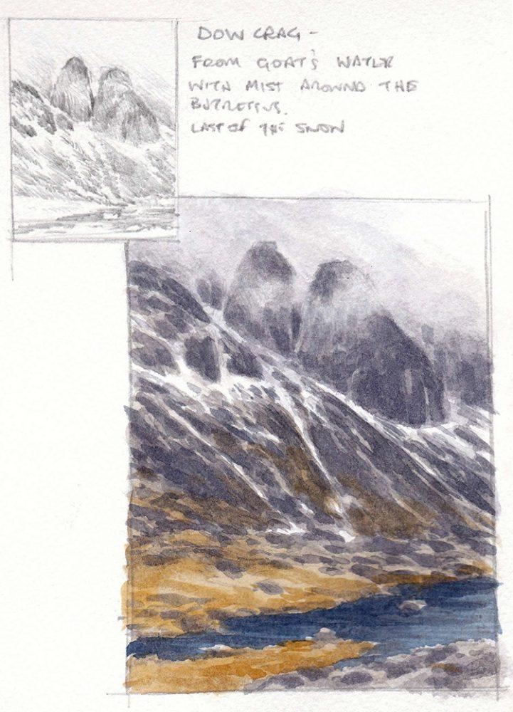 Dow Crag sketchbook page