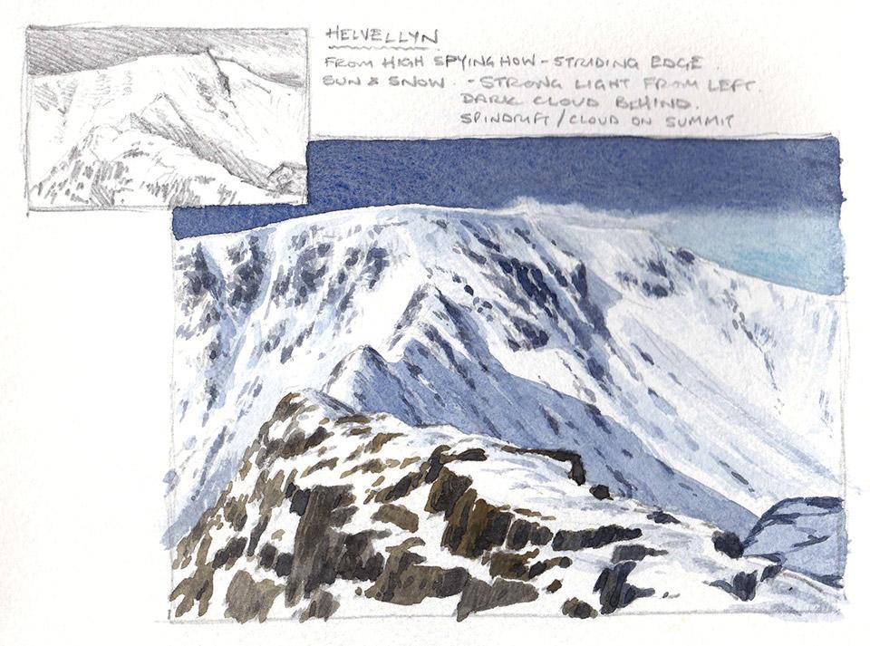 Helvellyn sketchbook page