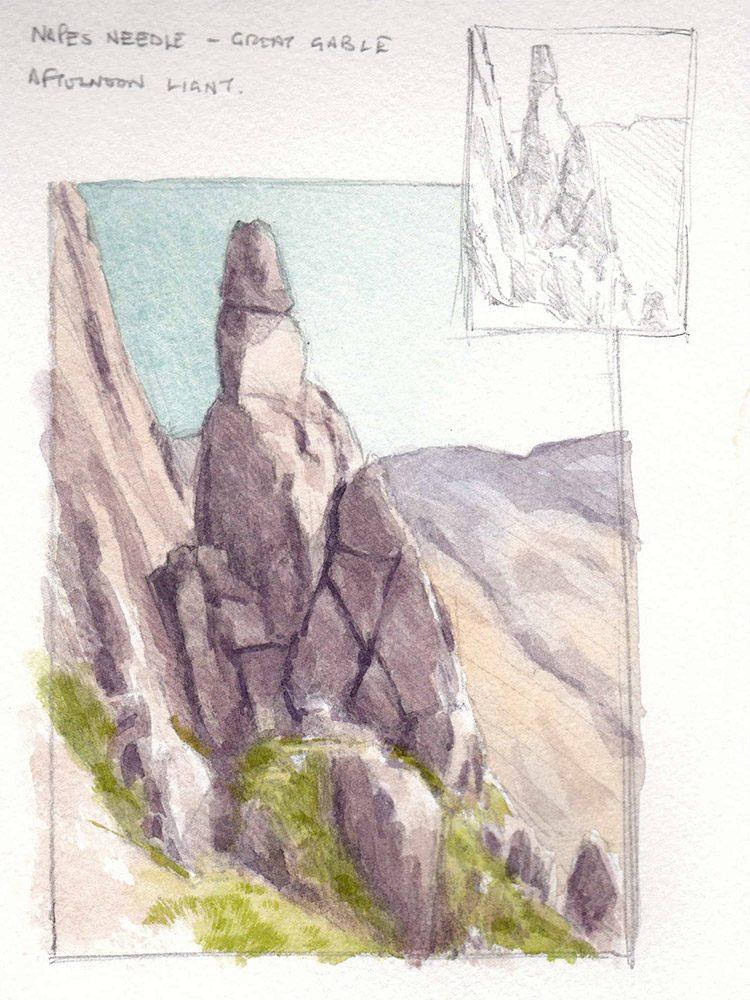 Napes Needle sketch