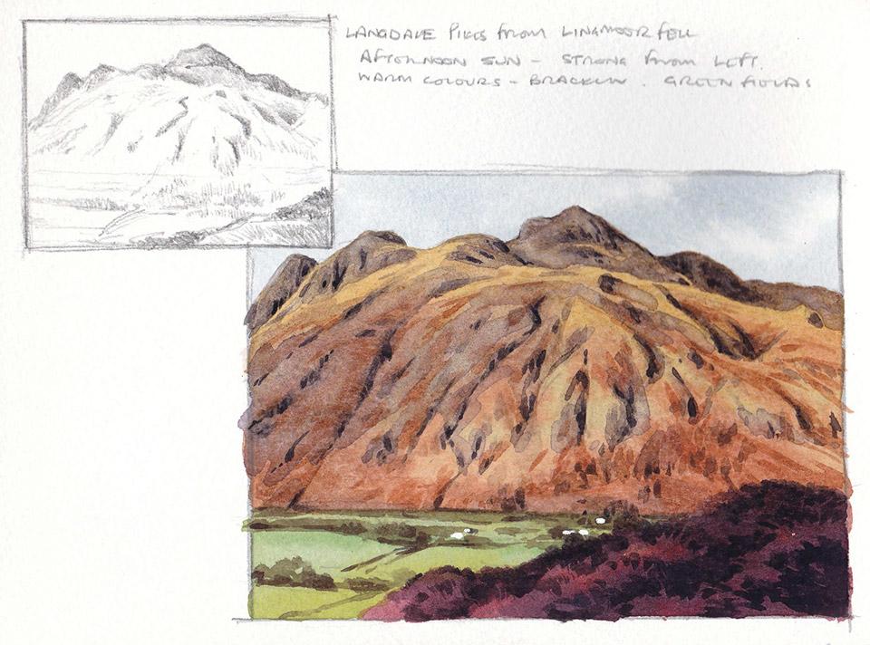 Langdale Pikes sketch