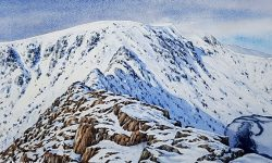 Striding Edge watercolour