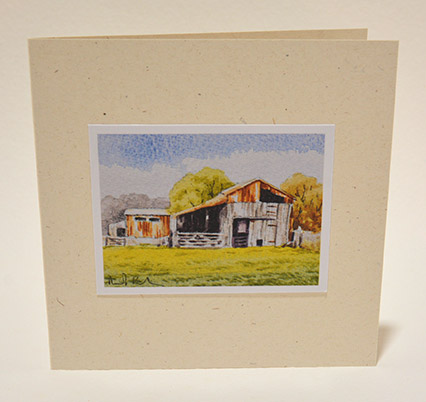 Lean to shed greeting card