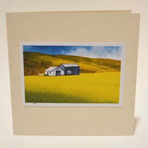 Barns in Buttercups greeting card