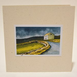 Roadside barn (Teesdale) greeting card