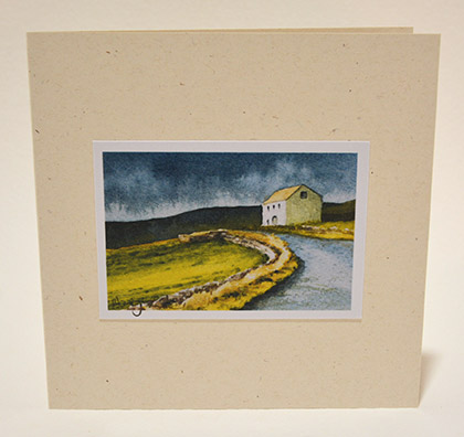 Roadside barn (Teesdale) greeting card