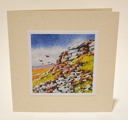 August on the moor greeting card