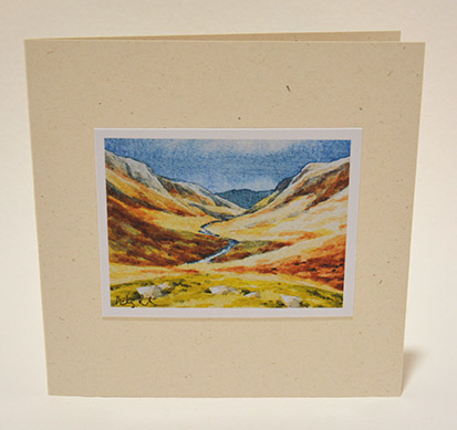 Langstrath valley greeting card