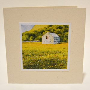 Swaledale meadow greeting card