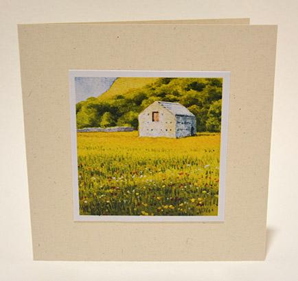 Swaledale meadow greeting card
