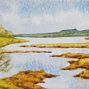 Blackton reservoir sketch