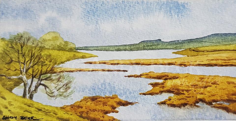 Blackton reservoir sketch