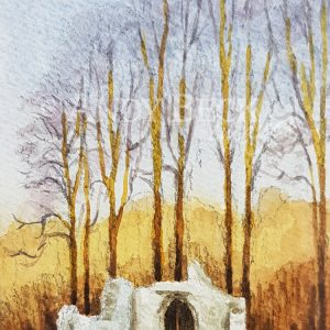 Brignall Old Church watercolour sketch