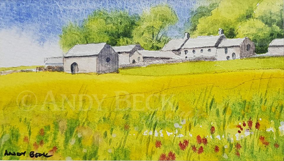 Hannahs Meadow watercolour sketch