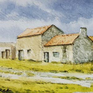Old mine buildings sketch