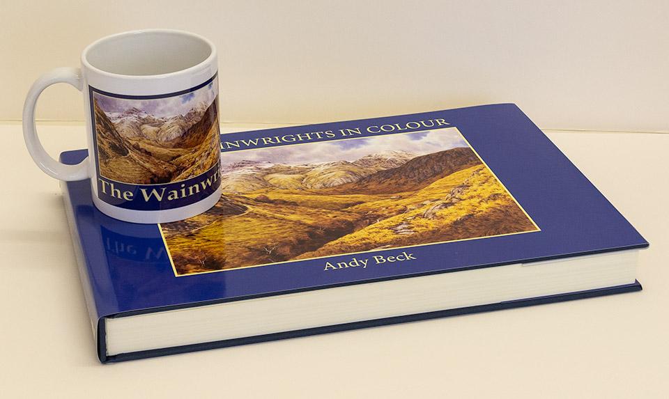 Wainwrights in Colour mug and book a