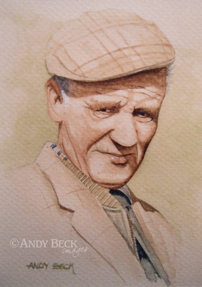 The Gamekeeper watercolour