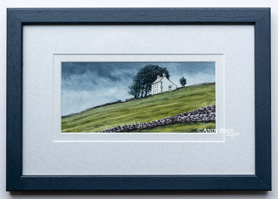 Rain at Hanging Shaw (Teesdale) framed