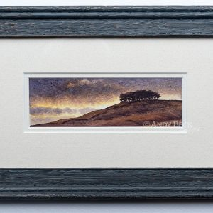 Sunset beyond Kirkcarrion (Teesdale) framed
