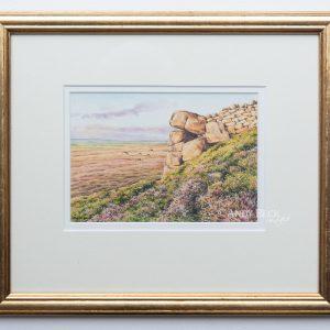 Elsey Crag Frying Pan Stone framed
