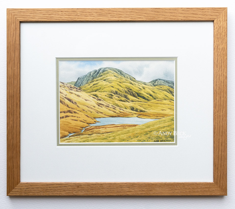 Great End and Styhead Tarn framed