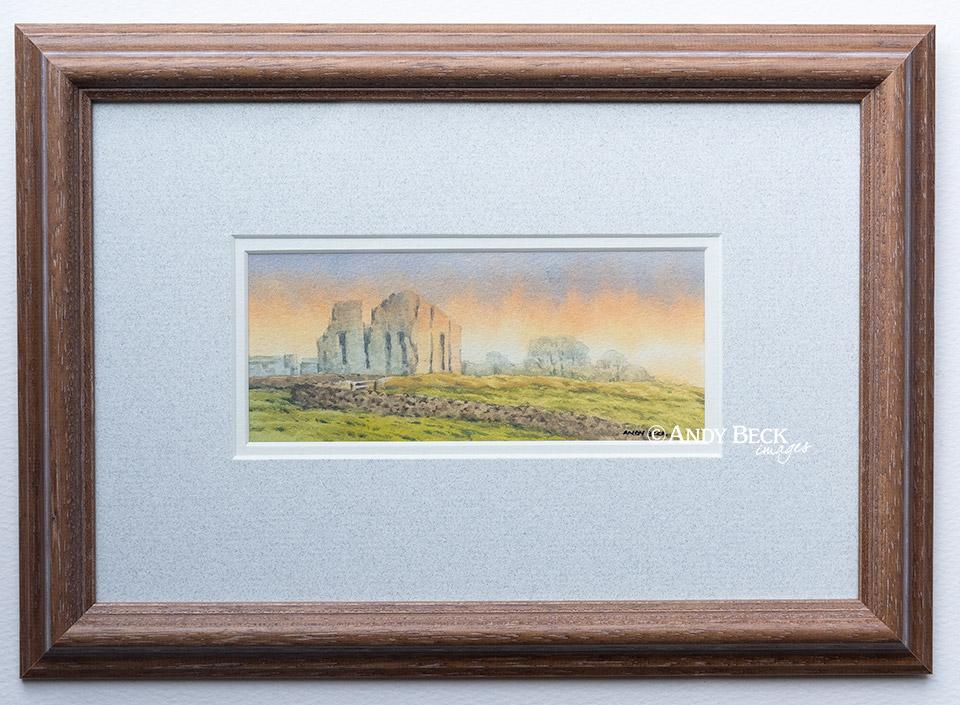 Bowes Castle soft morning light framed