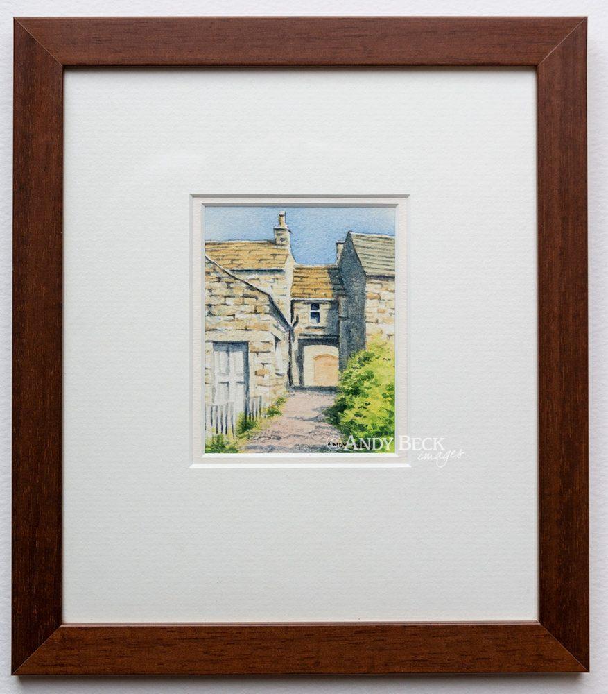 Bowes Village The Wynd framed